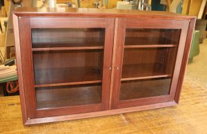 2 door wall cabinet rosewood finish