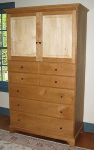 7 drawer bureau with cabinet