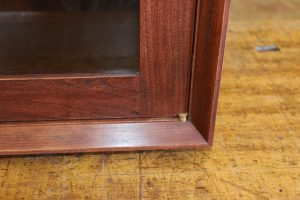2 door wall cabinet bevel detail