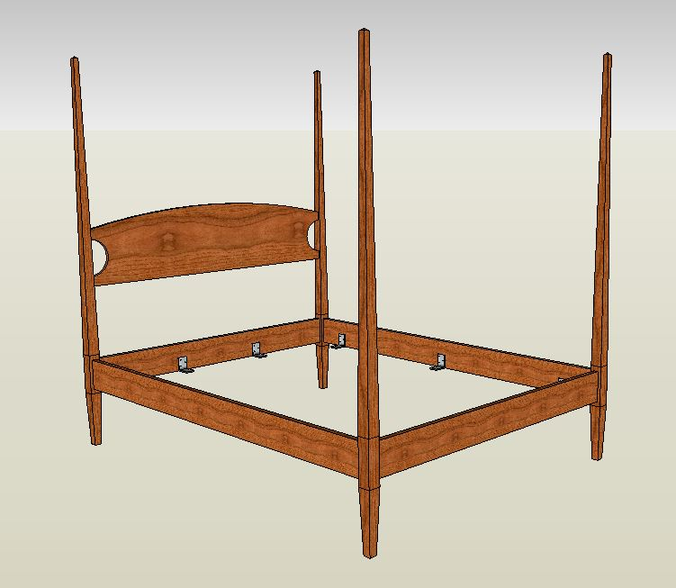 four poster bed handmade in cherry maple or mahogany. Black Bedroom Furniture Sets. Home Design Ideas