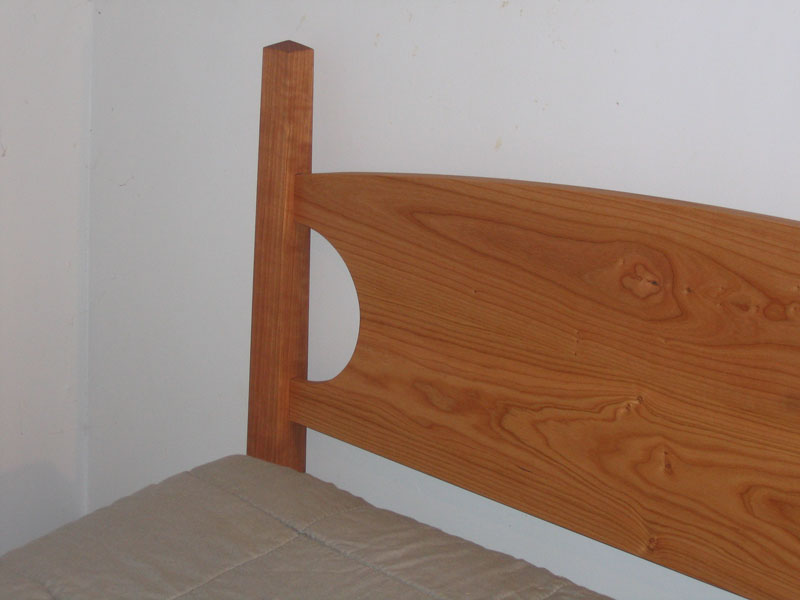 Low post four poster bed in solid cherry maple or mahogany for Short four poster bed