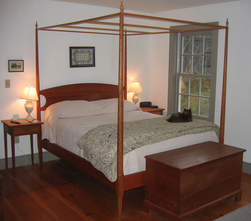 ... Cherry pencil post bed with 6 piece canopy frame ... & Pencil Post Beds in solid Cherry Maple or Mahogany ...