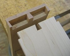hand fitted dovetailed drawers