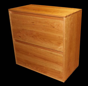 Cherry Lateral File Cabinet