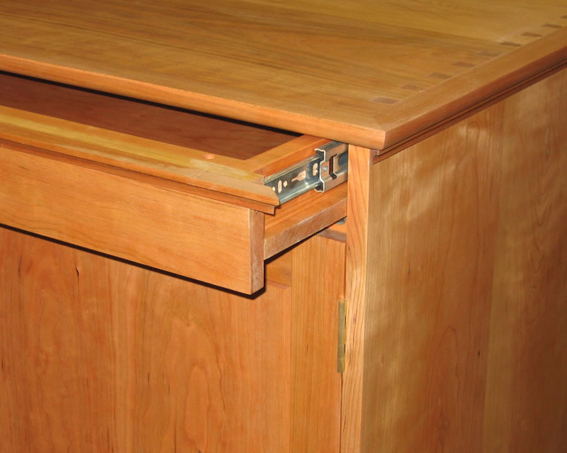 Optional Hidden Compartment Above Cabinet