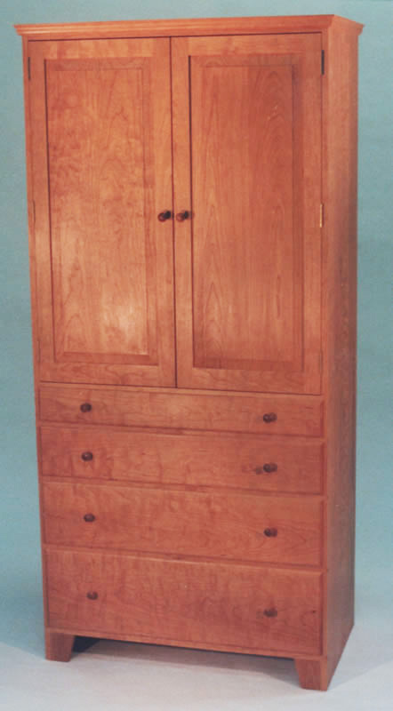 Shaker 4 Drawer Armoire