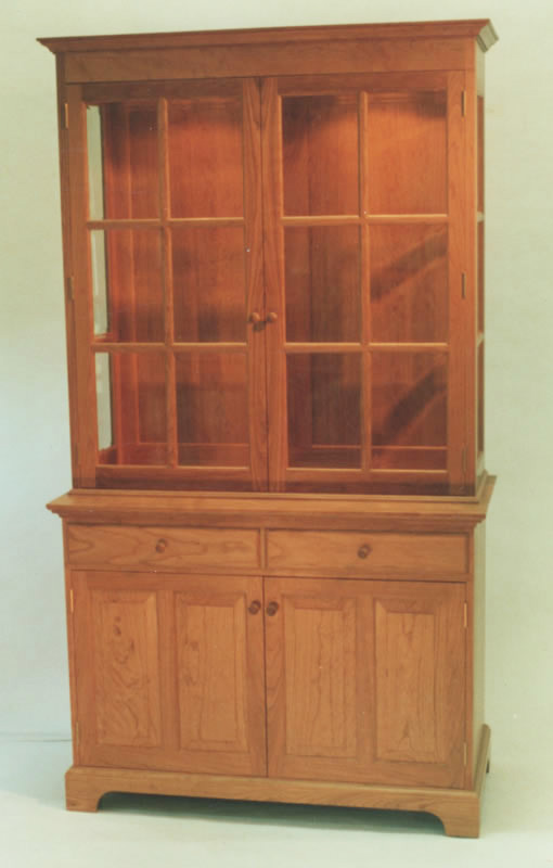 China Cabinet With Beveled Gl Doors And Sidelights Handmade