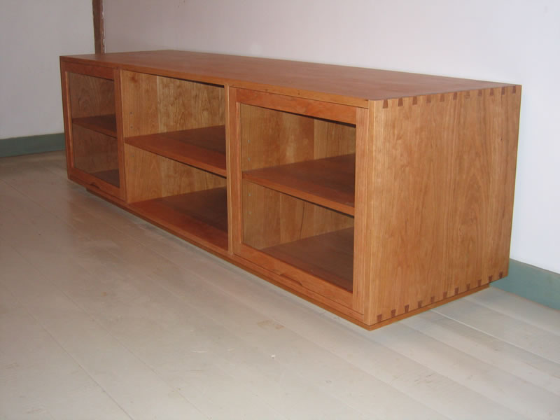 Gentil Dovetailed Media Cabinet In Cherry.