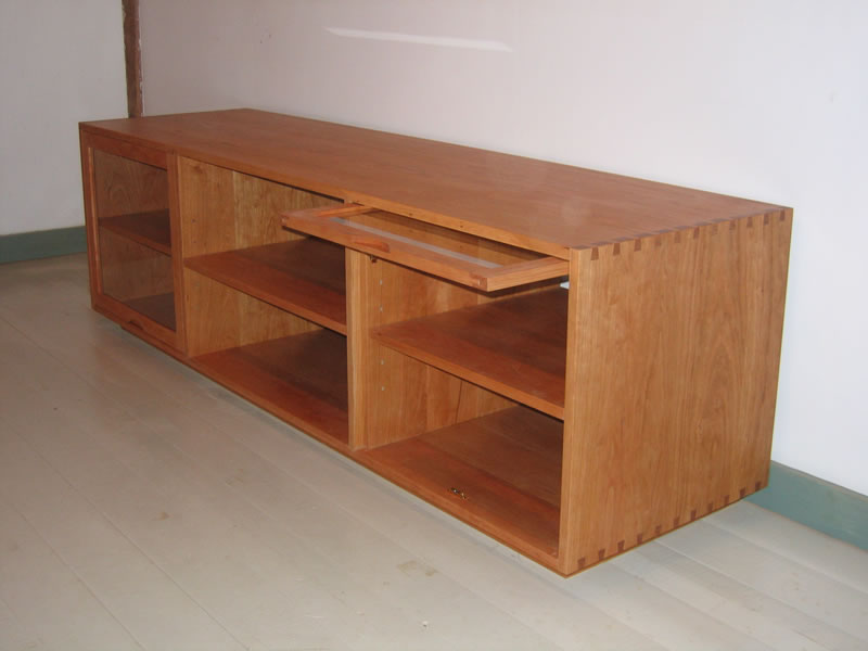 Dovetailed Media Cabinet And TV Stand Handmade Furniture Shaker