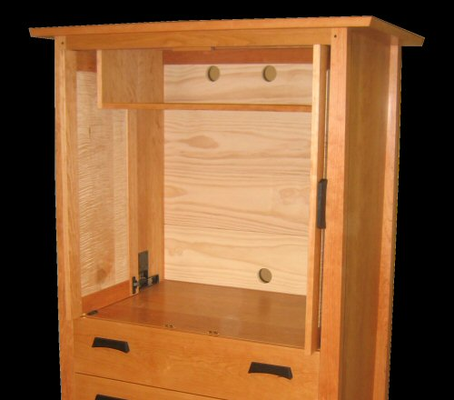 Mission 3 drawer armoire mission furniture for Armoire tv