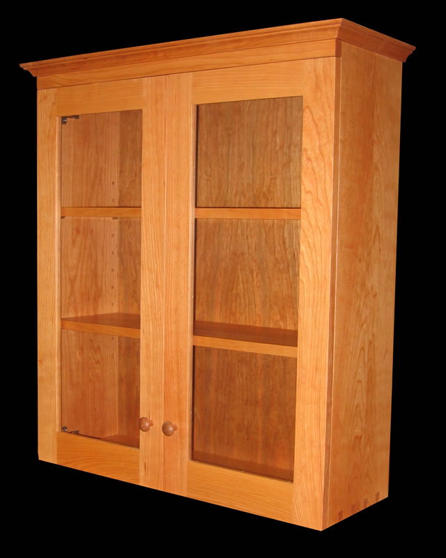Shaker Dovetailed Wall Cabinet Mission Furniture Custom
