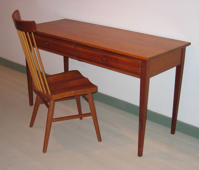 Shaker Writing Desk With Spindle Back Chair