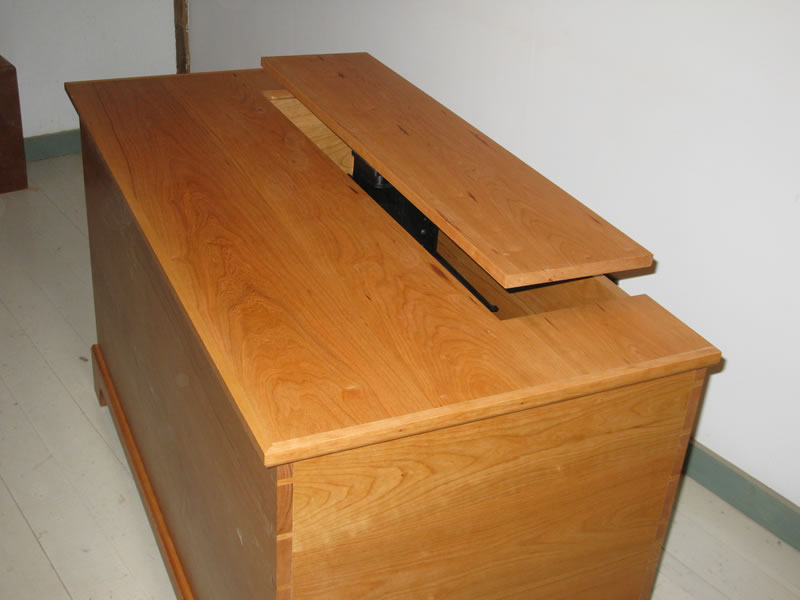 shaker blanket chest with tv lift swivel handmade furniture