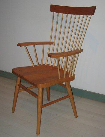 Cherry Windsor Chair. Spindleback Arm Chair