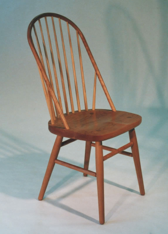 Bowback Windsor chair - cherry with ash spindles & Bowback Windsor Dining Chairs : Handmade Furniture ...
