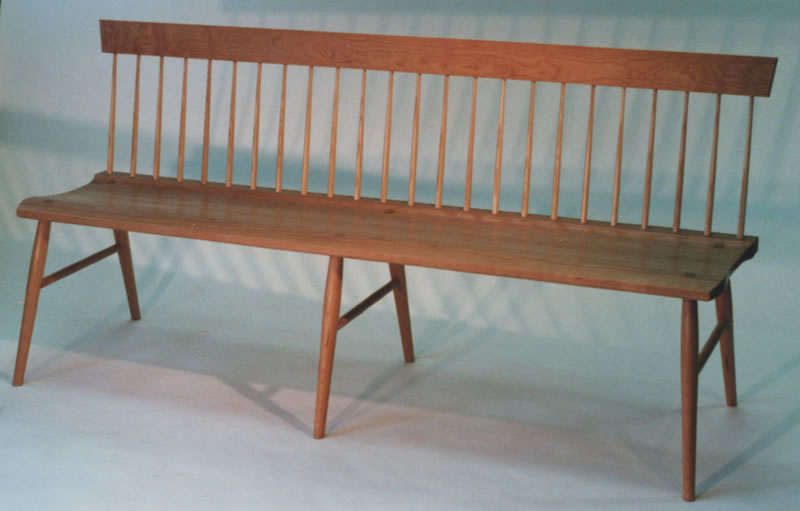 Image Gallery Spindle Bench