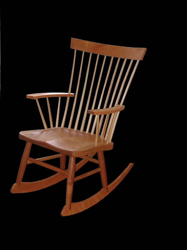 Charmant Spindle Back Rocking Chair   Cherry With Ash Spindles
