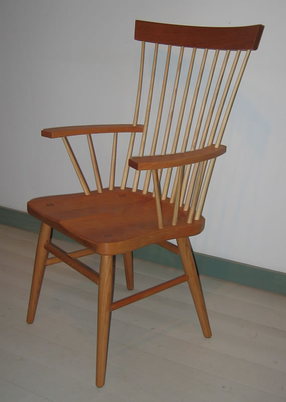 Spindle back windsor armchair dining chairs