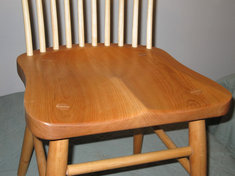 ... Deeply Contour Chair Seat. Legs And Spindles Extend Through Seat And  Are Glued U0026 Wedged ...