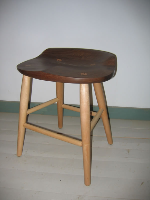 ... stool; walnut seat with maple legs - 18  high seat ... & Tractor Seat Kitchen Counter Stool : Tractor Seat Bar Stools ... islam-shia.org