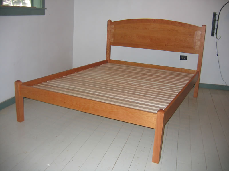 Arched Raised Panel Headboard Bed
