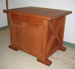 mahogany printer cabinet