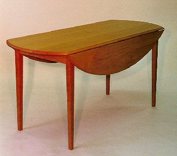Elliptical Drop Leaf Dining Table