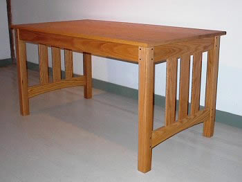 Library table desk - oak