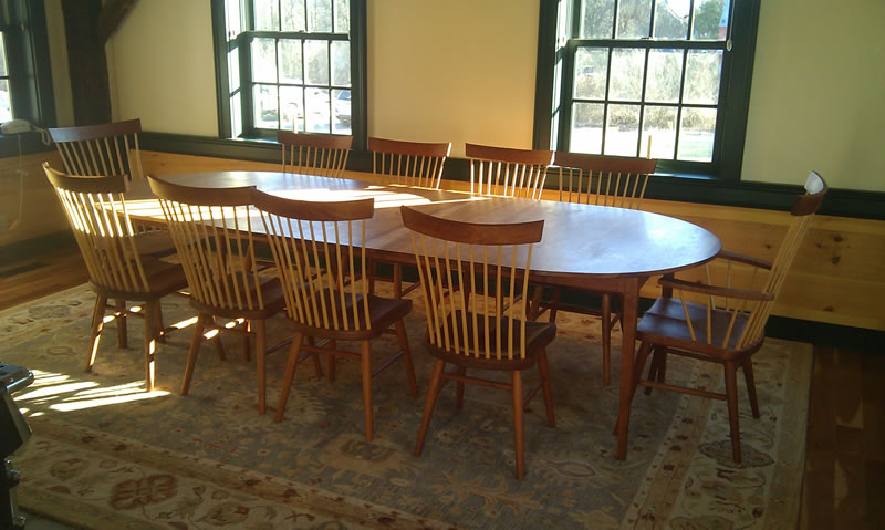 Round Oval Extension Tables Handmade In Vermont From Cherry Maple - 72 oval dining table