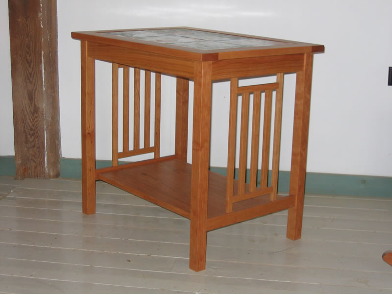 Beautiful ... Custom Mission End Table In Cherry With Tile Top ...
