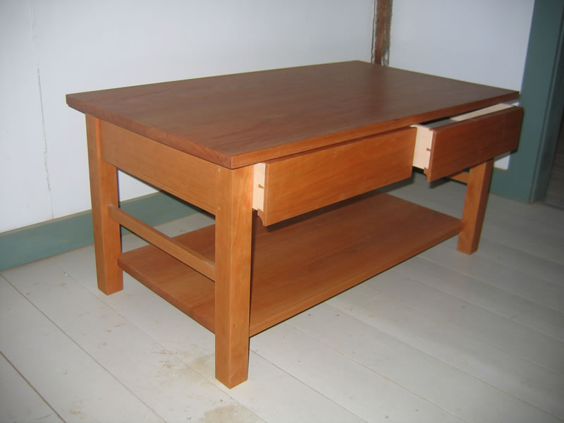 ... 2 Dovetailed Drawers And A Large Shelf Help Keep The Top Uncluttered